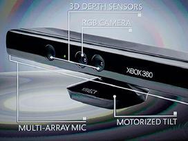 Xbox 360 Kinect sensorius ir žaidimai