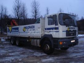 Kroviniu pervežimas su kranu .iki23 tonu