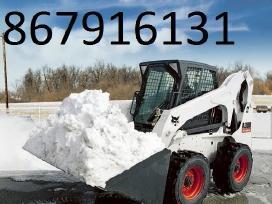 Sniego valymas, kelių barstymas Klaipėda