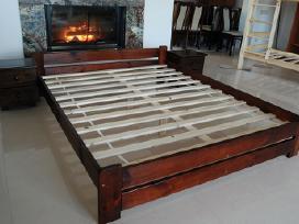 Nauja dvigulė natūralaus medžio masyvo lova140x200