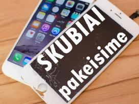iPhone ekranų, baterijų keitimas Ir Savaitgaliais