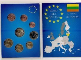 Dėkliukas su Lietuvos Euro monetom unc
