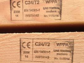 Graduota mediena C14-c18-c24-c30 stiprumo klasės