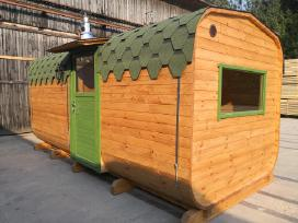 Pirtis Backa, Apvali karkasine lauko pirtis sauna