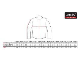 Pesso švarkų dydžių lentelė