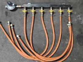 Suskystintų dujų balionų kolektorius šildymui