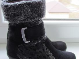 Nauji žieminiai odiniai batai su kailiu