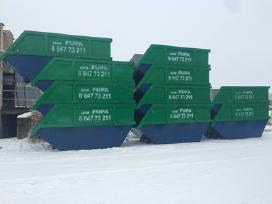 Šiūkšlių konteinerių nuoma, statybinėm atliekom