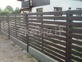 Medinės tvoros, vartai gamyba ir montavimas - nuotraukos Nr. 3