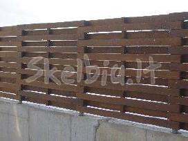 Medinės tvoros, vartai gamyba ir montavimas - nuotraukos Nr. 4