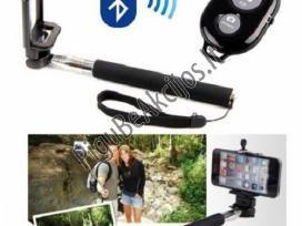 Teleskopinė asmenukiu-selfie lazda su Bluetooth