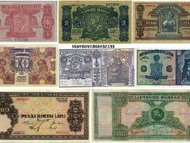 Perku Gerostovio Lietuvos banknotus Litus brangiai