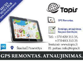 GPS atnaujinimas Šiauliuose