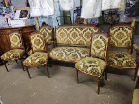 Parduodamas sėdimas senovinis komplektelis