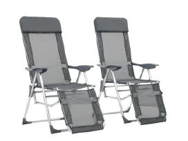 Vidaxl Sulankstomos kempingo kėdės 44315