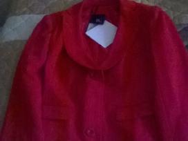 Naujas, raudonas, kelnių kostiumas 42 dydis