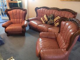 Odinės sofos ir 2 fotelių komplektas - nuotraukos Nr. 2