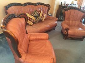 Odinės sofos ir 2 fotelių komplektas - nuotraukos Nr. 3