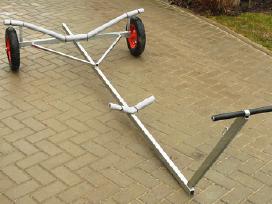 Karštai cinkuotas vežimėlis valties transportavimu
