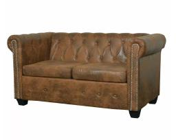 Vidaxl Chesterfield dvivietė sofa 243619