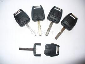 Opel Citroen užvedimo raktai+mikroschemos