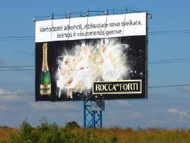 Reklaminiai tentai uzdengimui naudoti