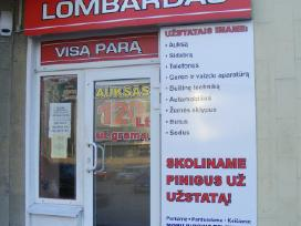 Lombardas skoliname pinigus už užstatą panevėžys