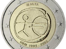 2 Eurų proginės monetos - Emu 1999-2009 Unc