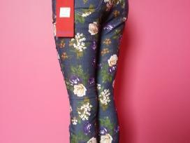 Nauji gėlėti džinsai