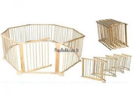 Medinis maniežas - apsauginė tvorelė 8 dalių