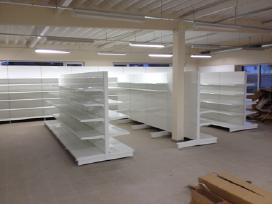 Prekybinės parduotuvių lentynos prekybos įranga