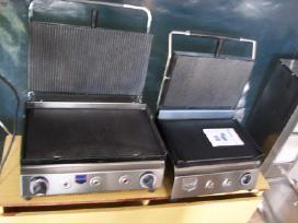 Kontaktiniai griliai kebabam dujos-elektra ir kita