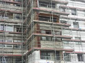 Fasadų šiltinimas dekoruojant tinku,ventiliuojamu