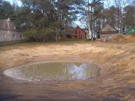 Tvenkiniu kasimas,valymas,aplinkos tvarkymo darbai - nuotraukos Nr. 5