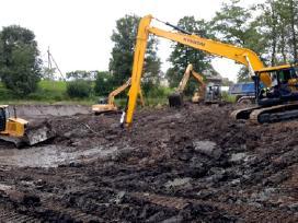 Tvenkinių kasimas, žemės darbai