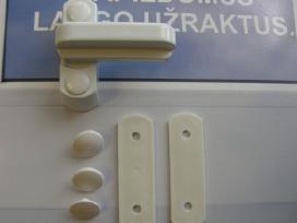 Papildomas lango varčios užraktas - jūsų saugumui