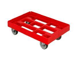 Vežimėlis dėžėms, kroviniams. Plastikinis.
