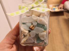 Kriauklelės, akmenėliai, dekoracijos