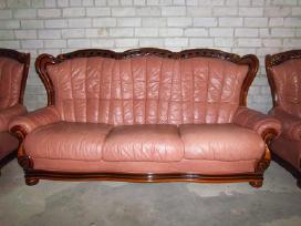 Odinės sofos ir 2 fotelių komplektas - nuotraukos Nr. 4