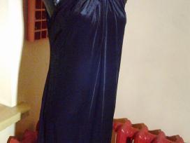 Juodo aksominio trikotažo suknelė su žvyneliais
