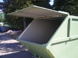 Statybinių atliekų konteineriai.