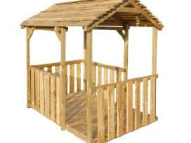 Vidaxl Lauko žaidimų paviljonas, medinis 44906