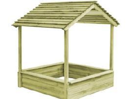 Vidaxl Lauko žaidimų namelis su smėlio dėže 44907