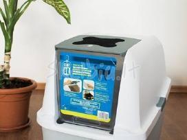 Patvarūs ir ergonomiški uždari kačių tualetai