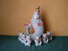Porceliano zuveliu komplektas.idealaus stovio