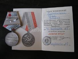 CCP medalis su dokumentu. zr. foto. - nuotraukos Nr. 4