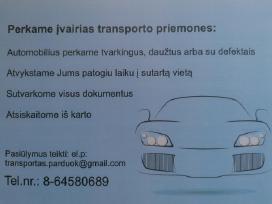 Automobiliu pirkimas Vilniuje ir kituose miestuose
