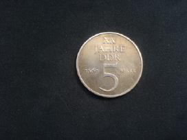 Rytų Vokietijos proginė 5 markės 1969m. (Reta)