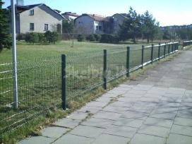Tvoros, vartai segmentinės, tinklinės medinės - nuotraukos Nr. 2