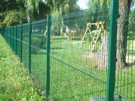 Tvoros, vartai segmentinės, tinklinės medinės - nuotraukos Nr. 5